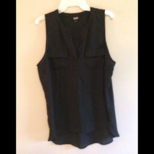 Black sheer sleeveless top